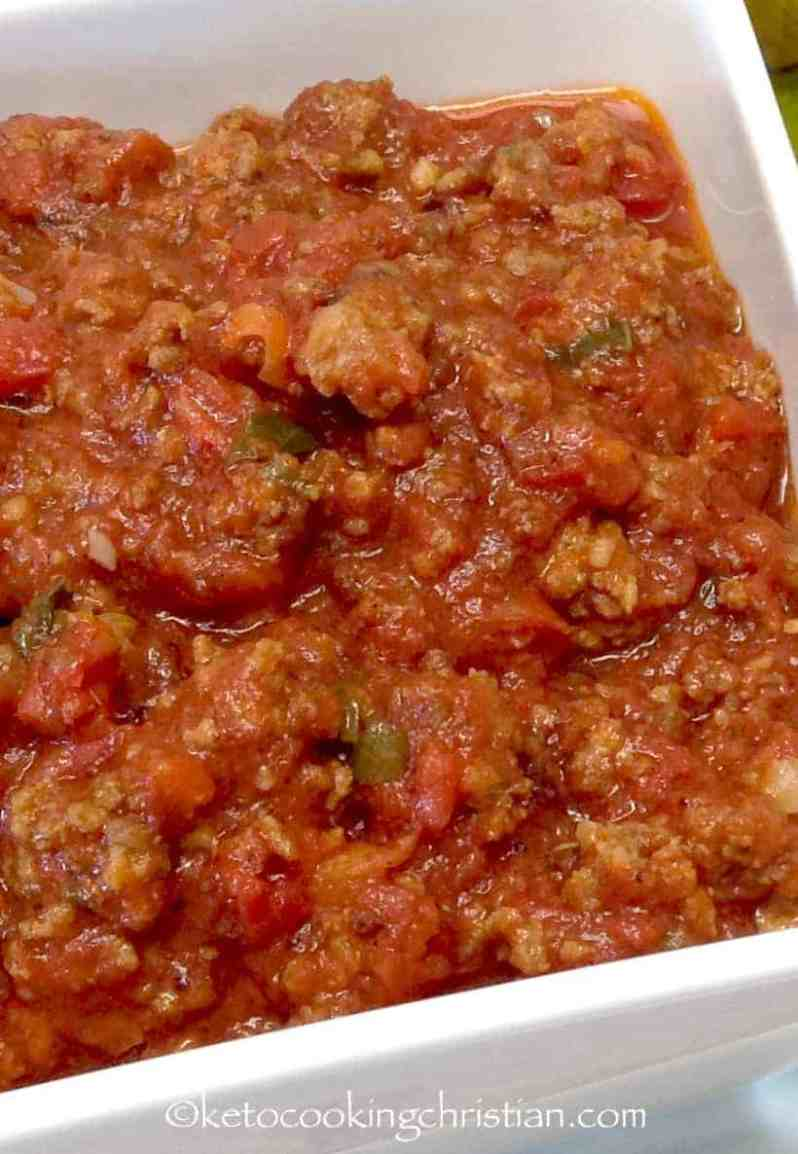 Homemade Italian Meat Sauce - Keto and Low Carb