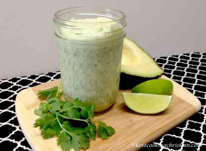 avocado lime cilantro ranch dressing keto low carb