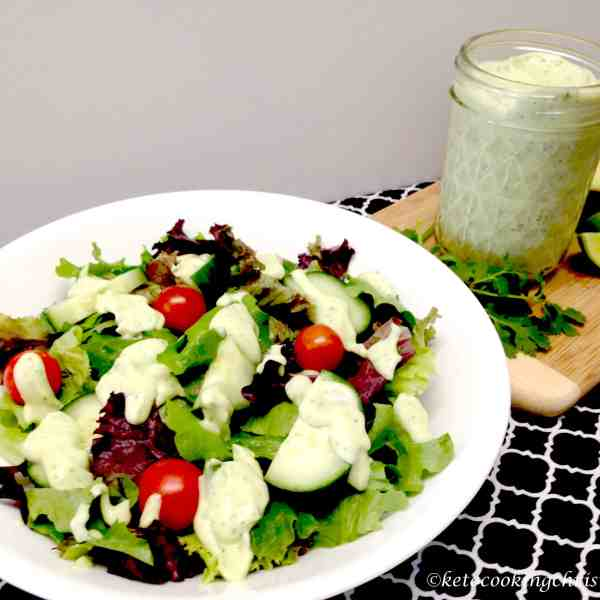 avocado lime cilantro ranch dressing keto low carb
