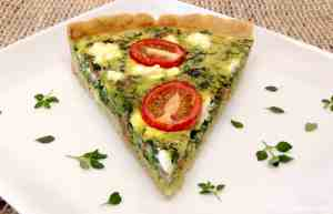 Italian sausage and spinach quiche keto low carb gluten free