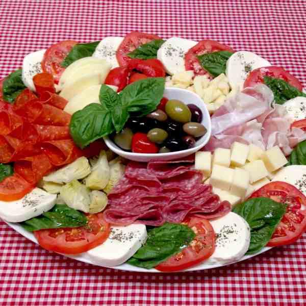 Italian antipasti platter antipasto