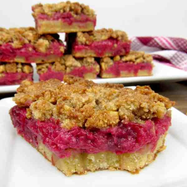 Cranberry Walnut Crumble Bars - Keto, Low Carb & Gluten Free