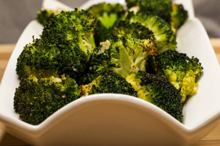 Nutty and toasty from the oven, this roasted broccoli is keto and delicious!