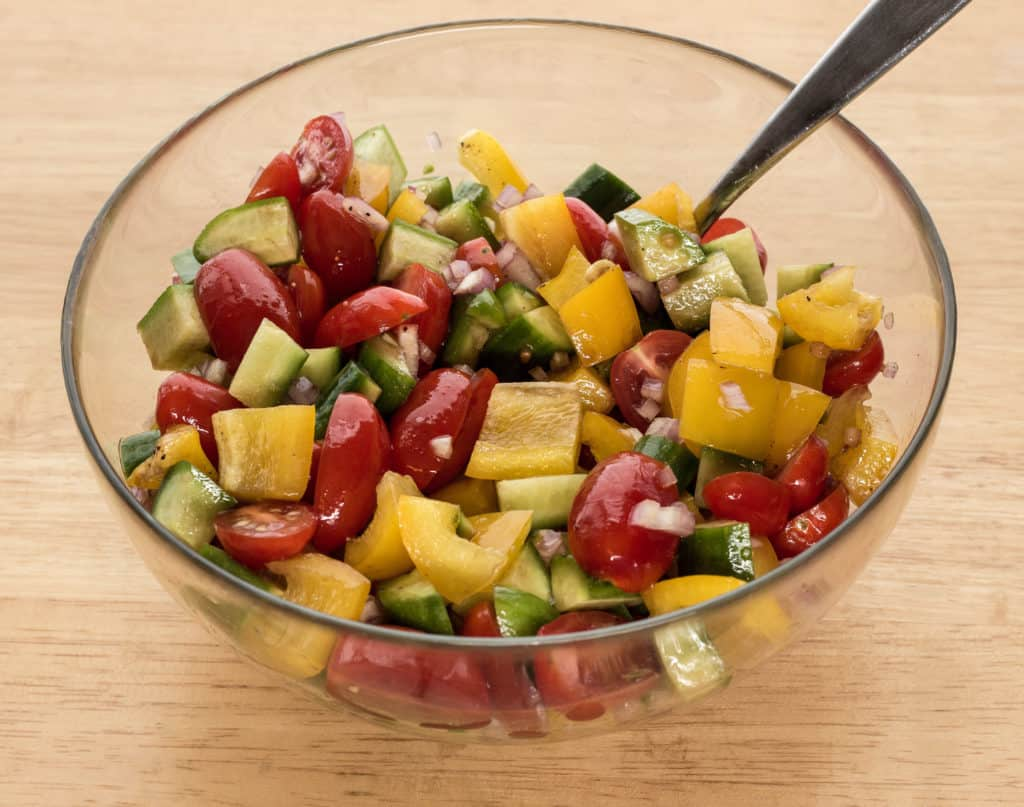 tomato pepper cucumber salad