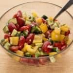 tomato pepper cucumber salad