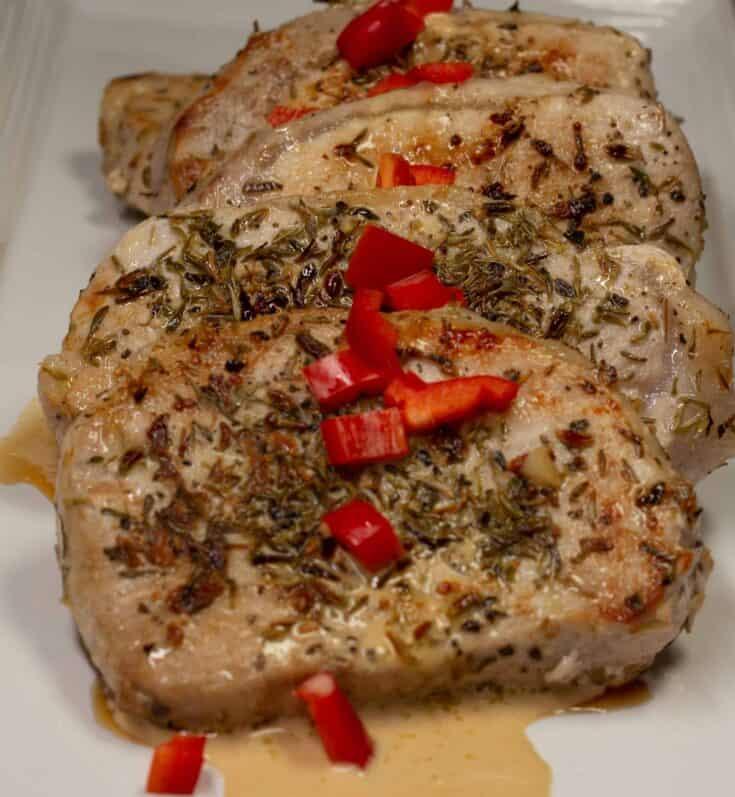 French pork chops with Dijon Cream Sauce