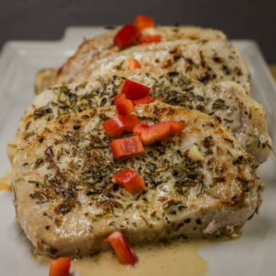 French Pork Chops with Dijon Cream Sauce