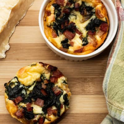 Ham & Spinach Crustless Quiche