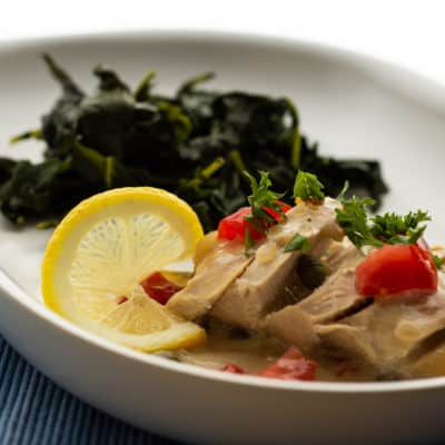 Chicken in a Lemon Cream Sauce