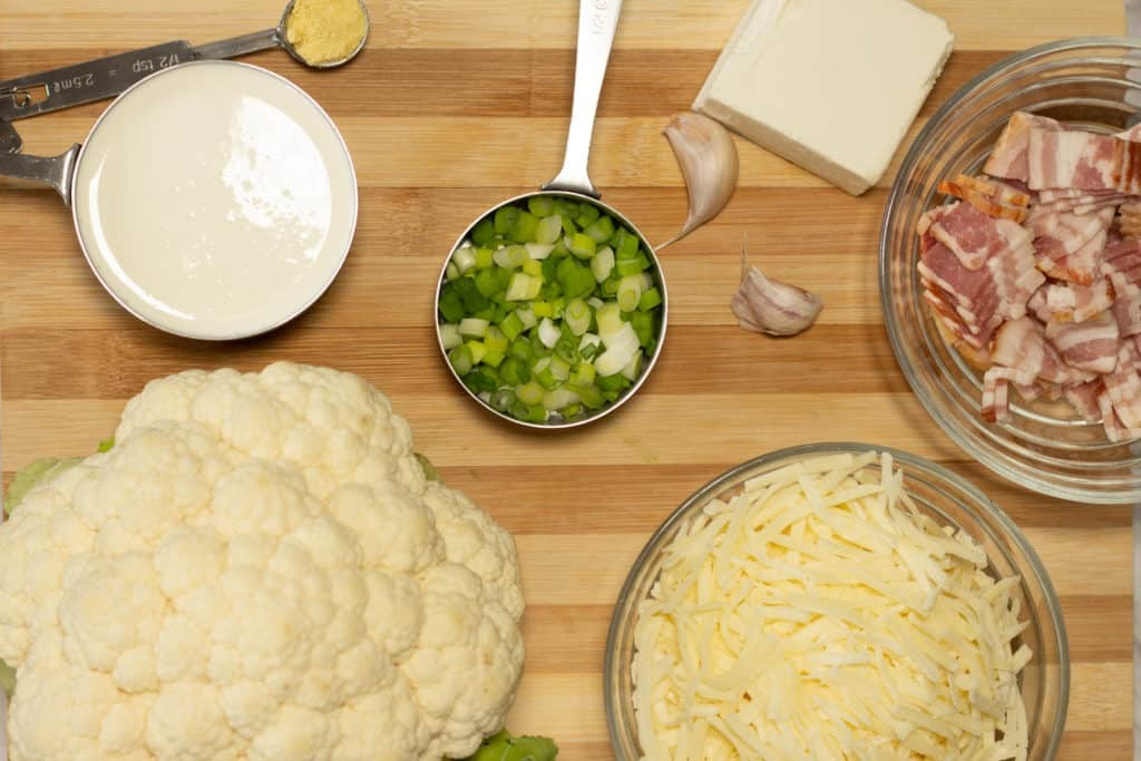 cauliflower no-mac n cheese ingredients