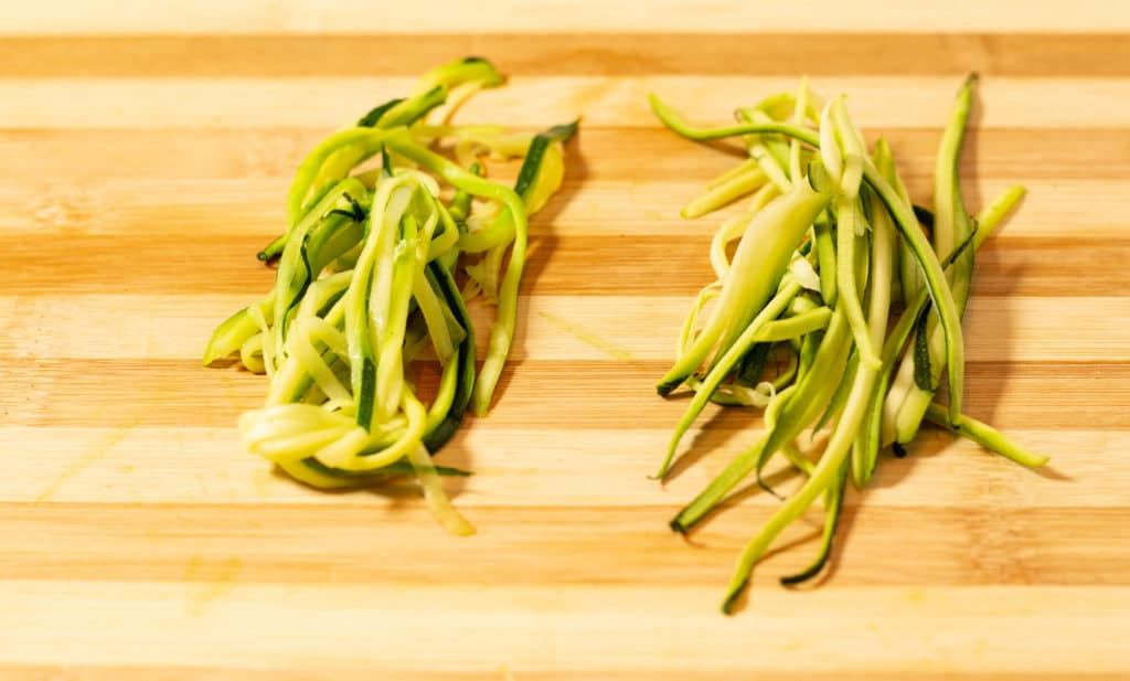 Keto and low carb zucchini noodles.