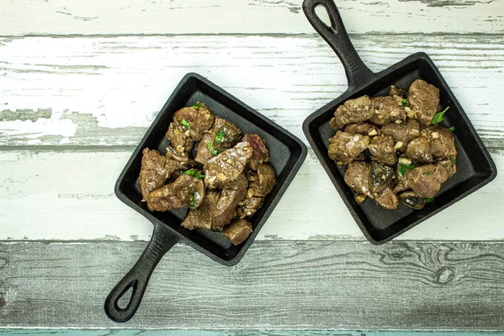 garlic steak & mushrooms