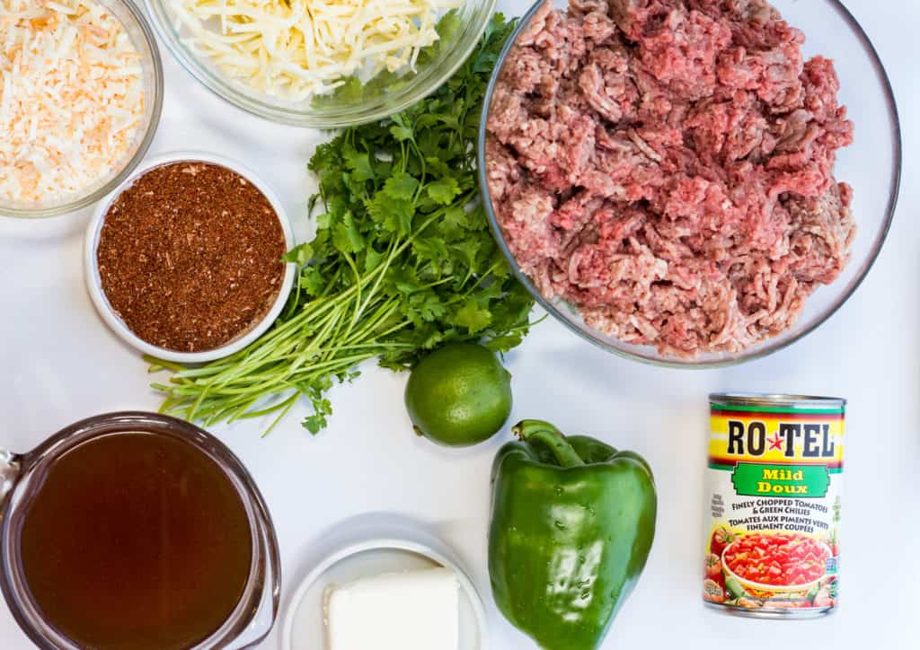ingredients for keto tex-mex casserole
