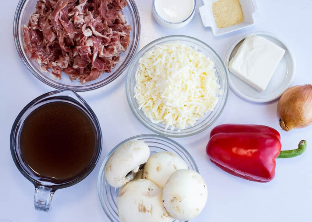 ingredients for keto philly cheesecake casserole