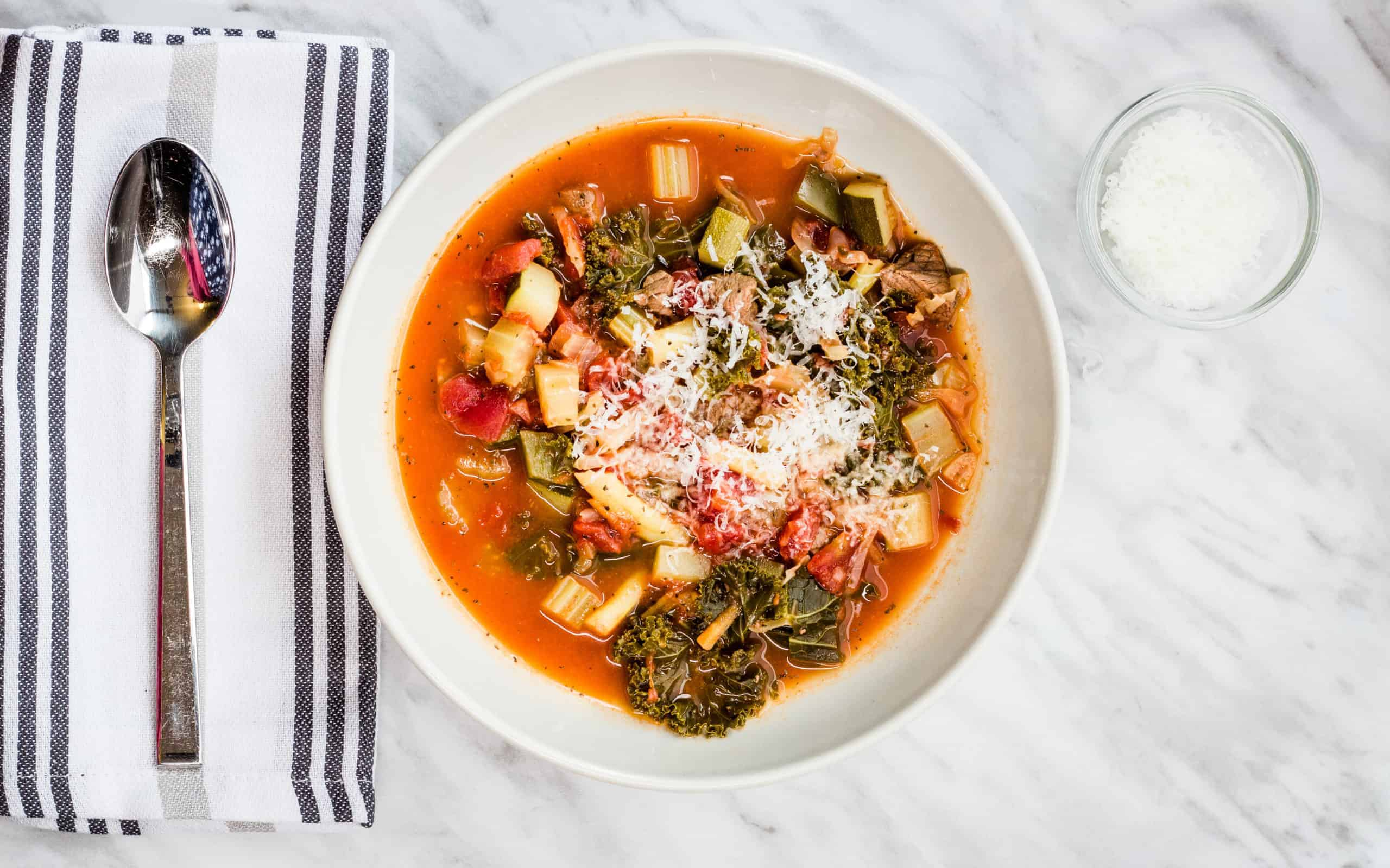 Keto-Friendly Beefy Minestrone Soup
