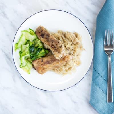 Slow Cooker Ribs and Sauerkraut