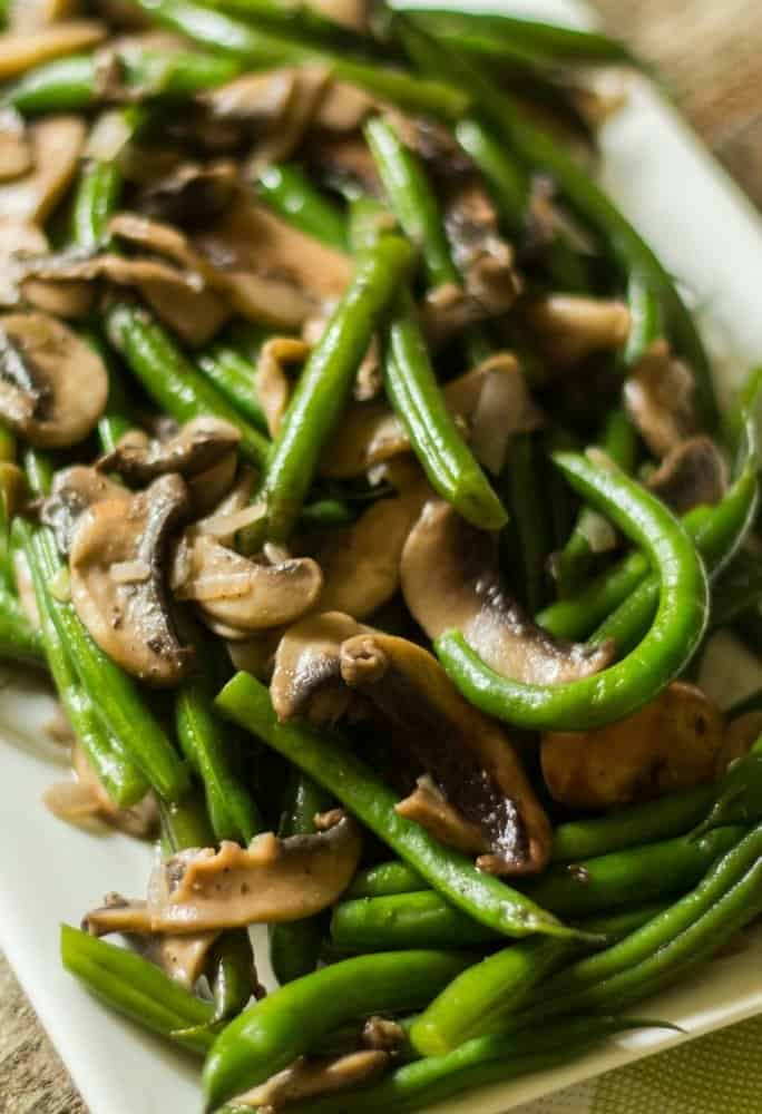 keto green beans with mushrooms and shallots recipe