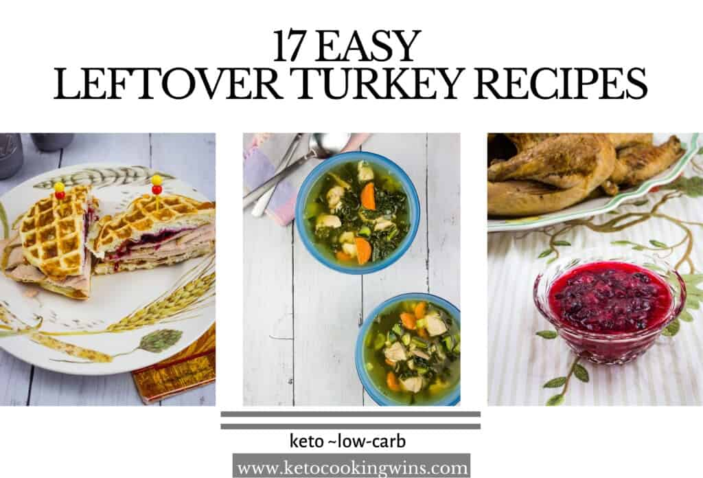 banner for 17 leftover turkey recipes