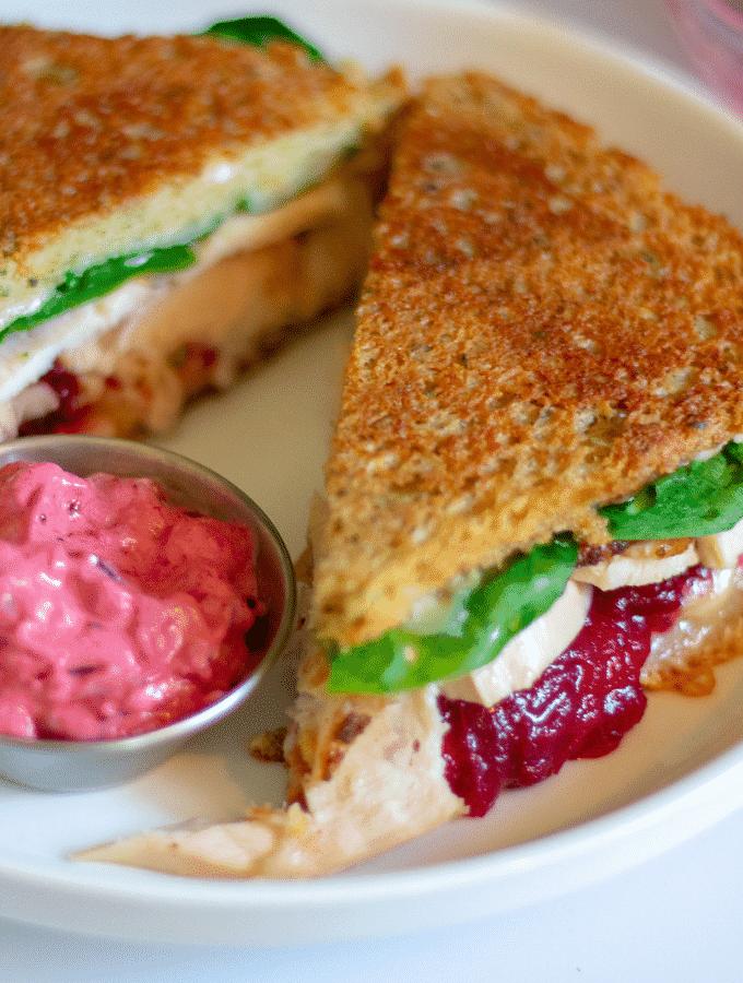 low carb thankgiving turkey sandwich
