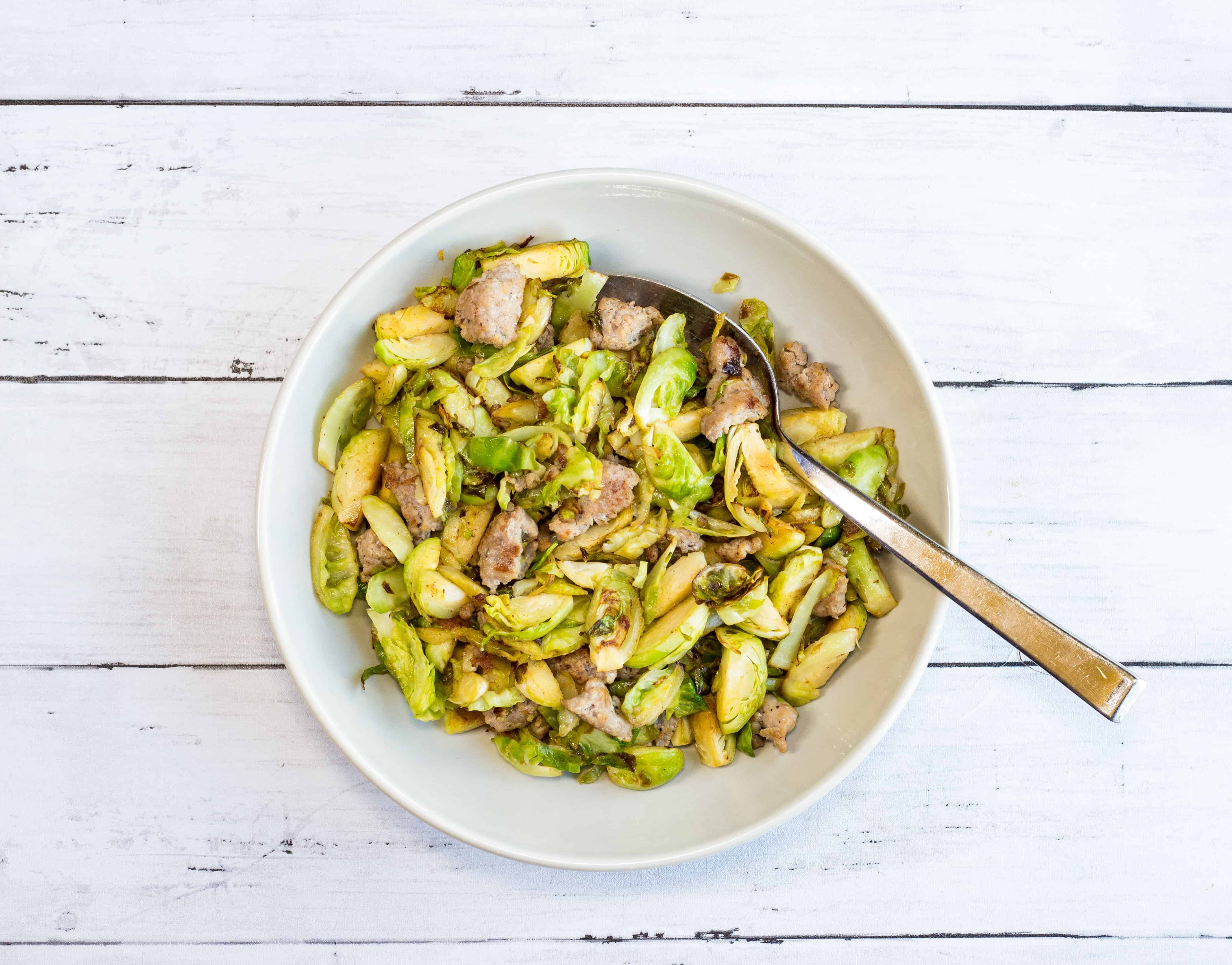 Italian Brussels Sprouts with Sausage