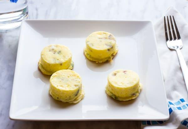 keto egg bites recipe plated