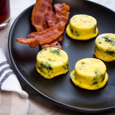 Keto Egg Bites With Spinach & Cheese