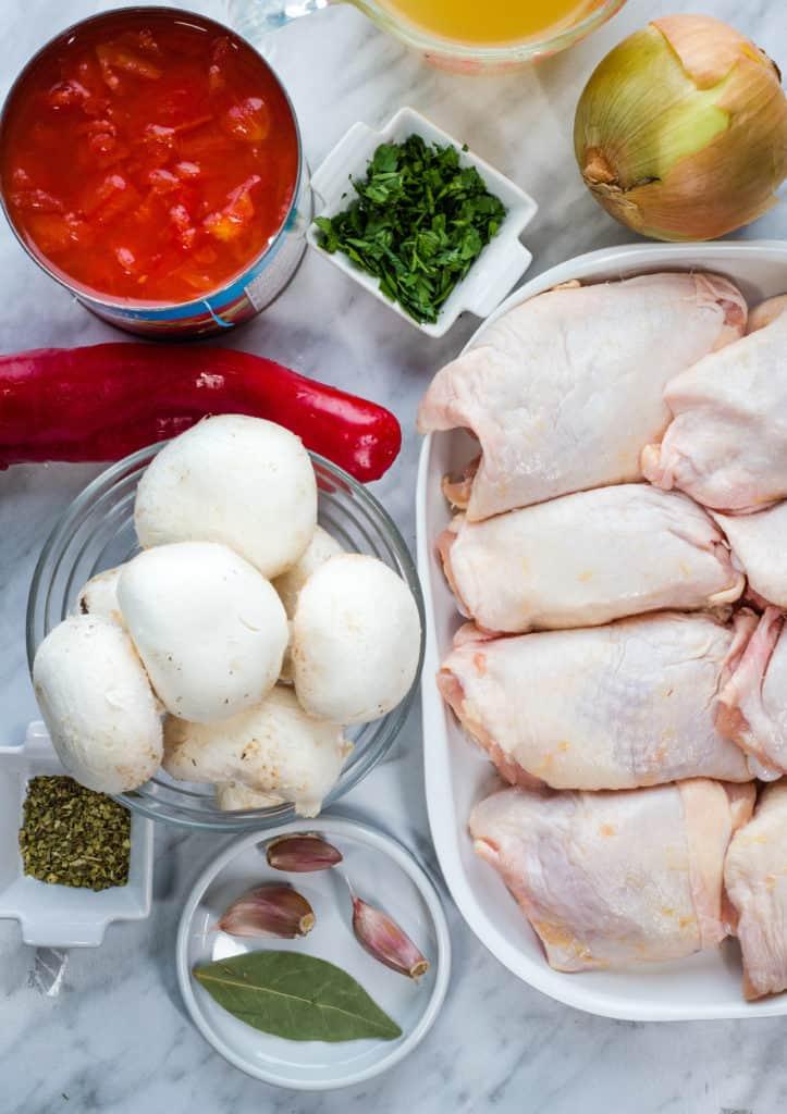 ingredients in keto chicken cacciatore