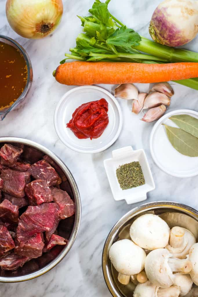 ingredients to make keto beef stew