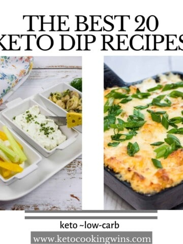 the best 20 keto dip recipes with pictures of shrimp dip, crab dip, ranch dip and blue cheese dip