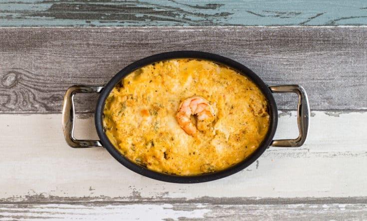 keto shrimp dip in a serving dish
