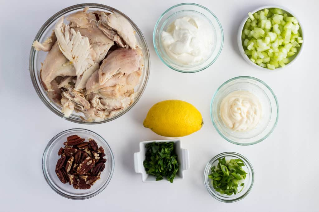 ingredients to make southern chicken salad recipe