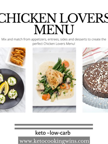 chicken lovers menu - mix and match to create a fabulous meal