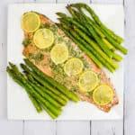 sheet pan salmon & asparagus