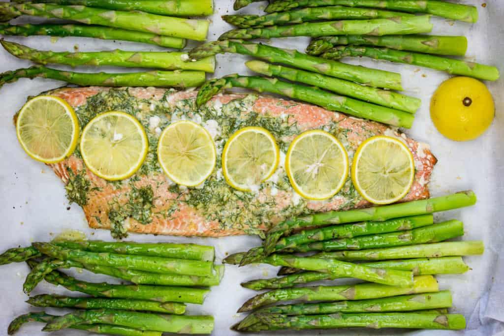 toss the asparagus halfway through cooking