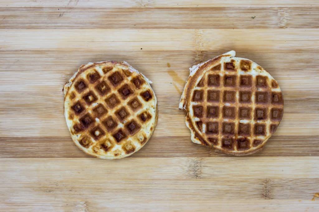 golden brown chaffles to make keto pizza chaffles