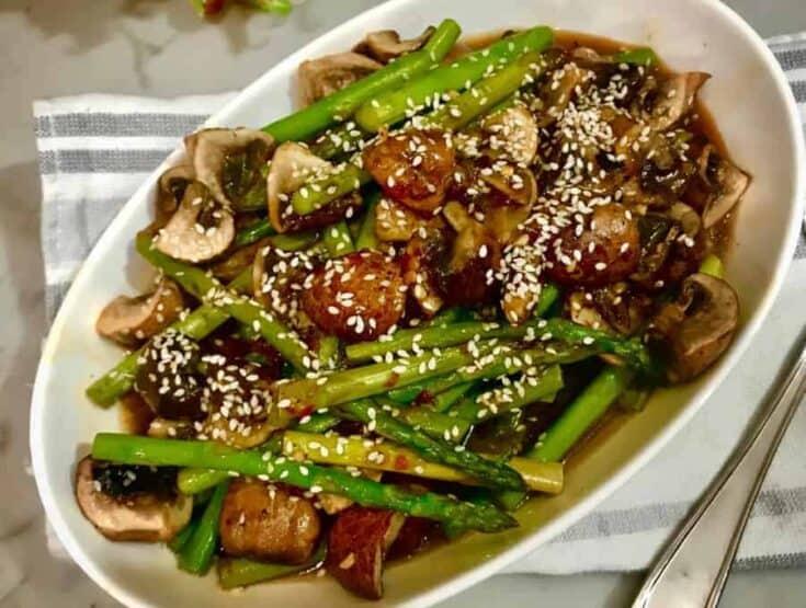 Asparagus and Mushrooms Stir Fry
