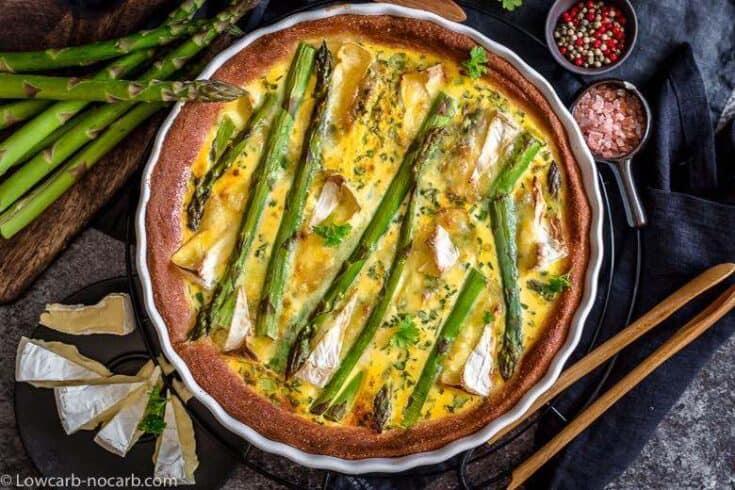 Easy Asparagus Keto Quiche with Fathead Dough