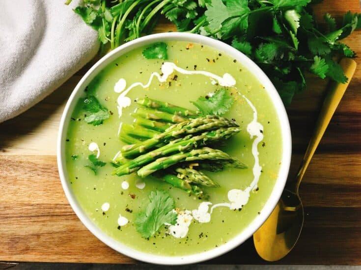 Keto Cream of Asparagus Soup
