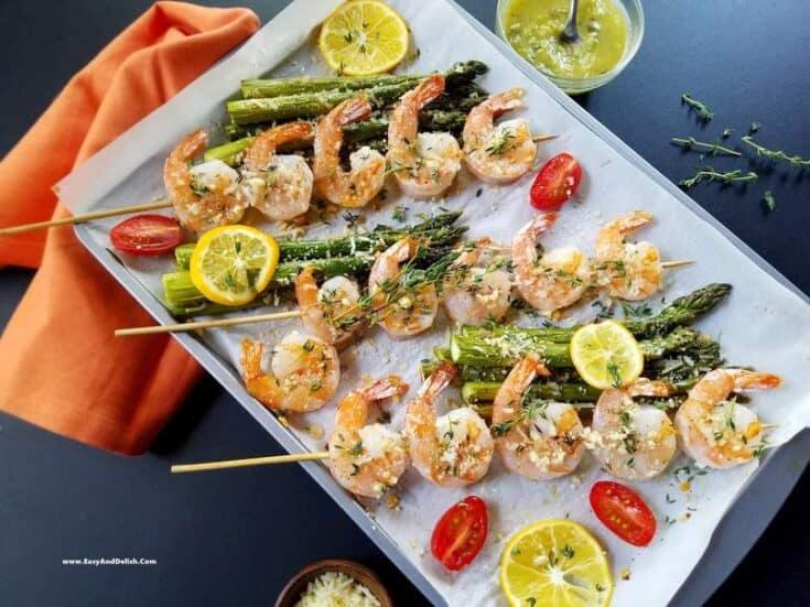 One Sheet Pan Parmesan Shrimp and Asparagus