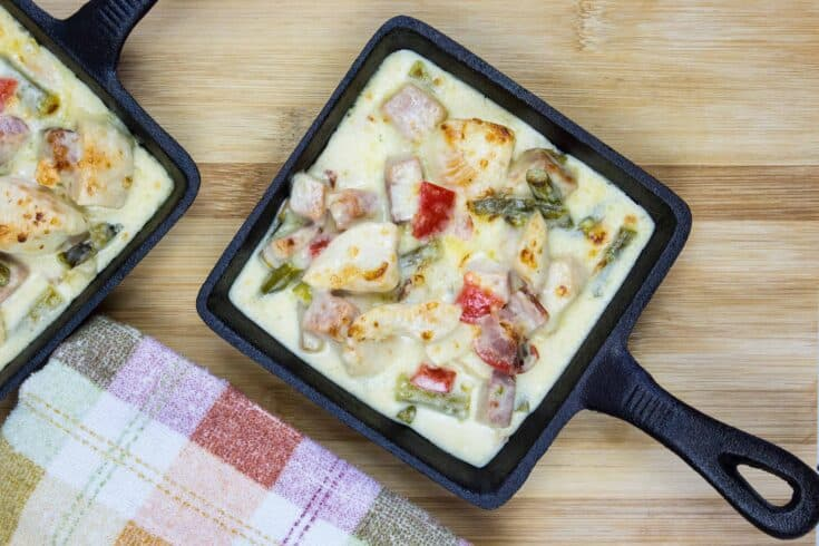 Creamy Chicken, Ham & Asparagus Casserole