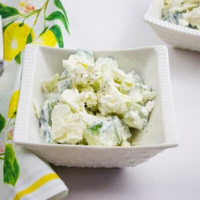 Super Easy Keto Cucumber & Feta Salad