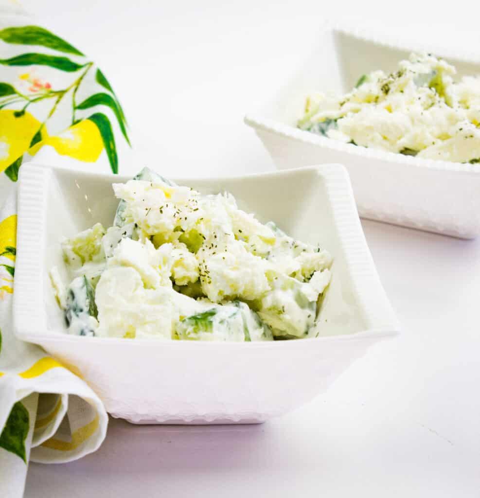 keto cucumber and feta salad