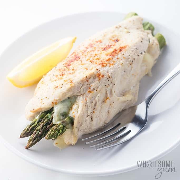 Asparagus Stuffed Chicken Recipe with Provolone