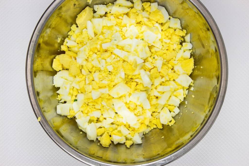 chopped egg for the best keto egg salad recipe