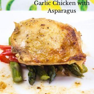 keto garlic chicken with asparagus recipe