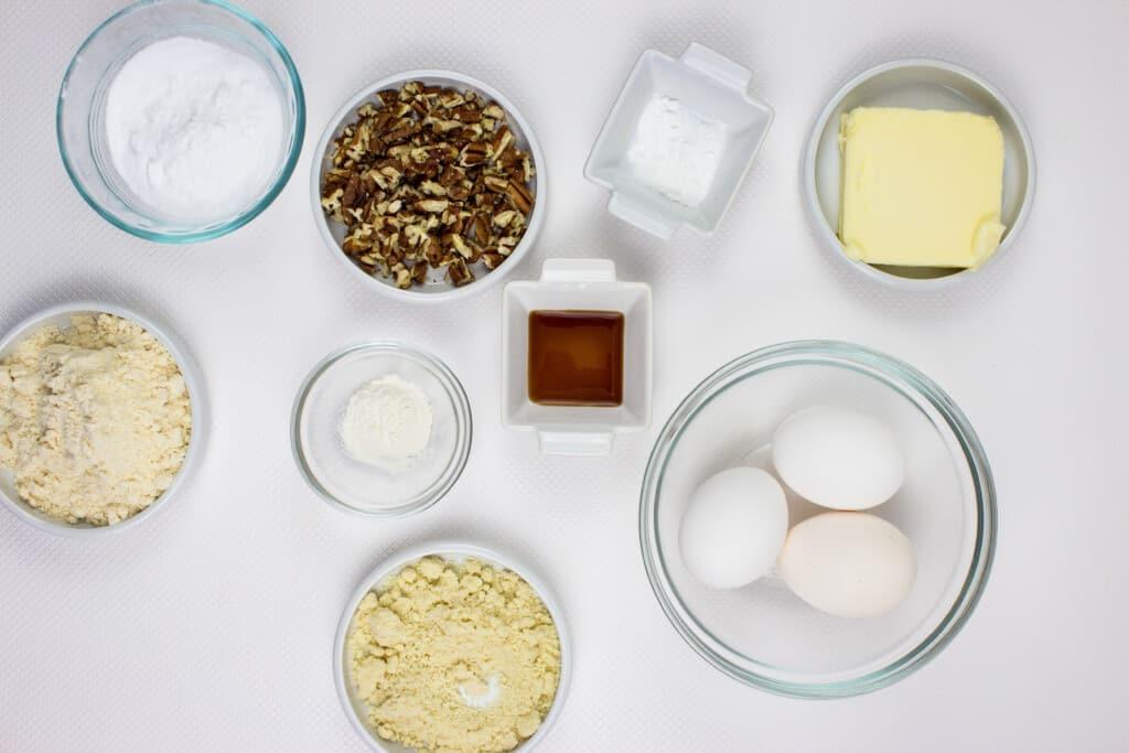 keto pecan cupcake ingredients