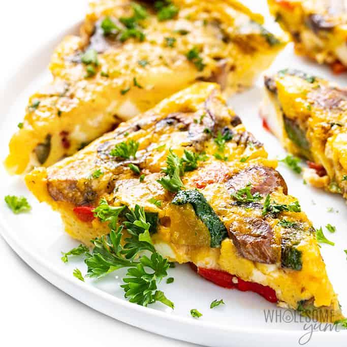 Easy Keto Vegetable Frittata Recipe