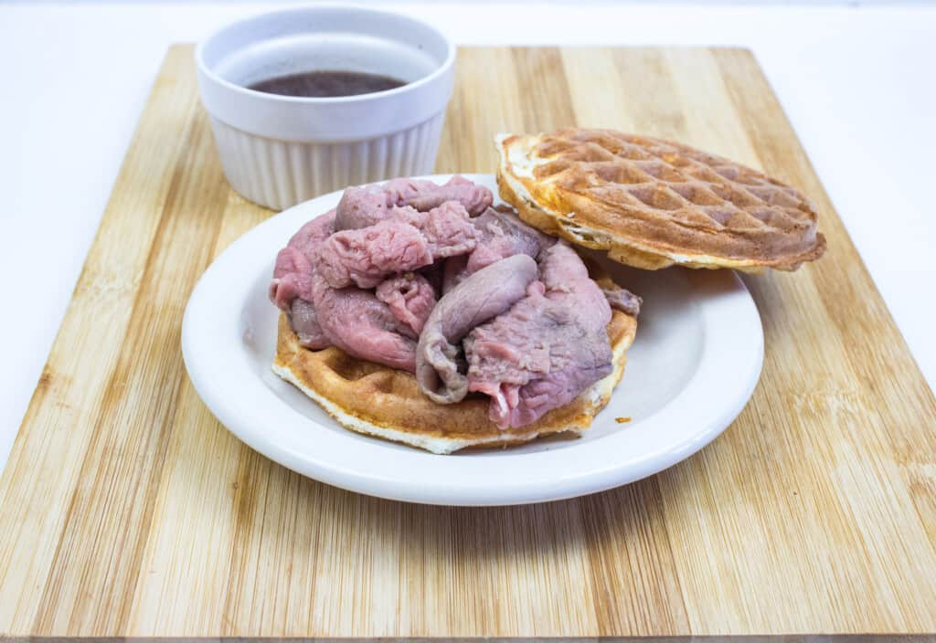 keto french dip chaffle sandwich