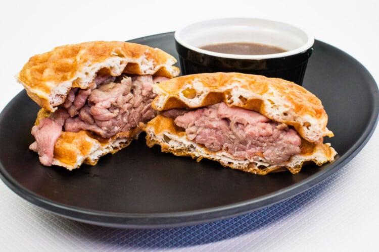 Keto French Dip Chaffle Sandwich