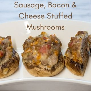 sausage, bacon, cheese stuffed mushroom caps